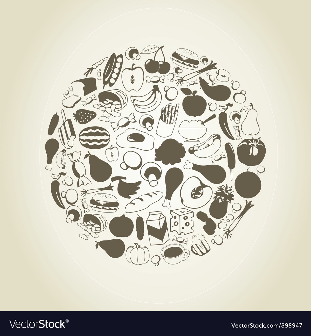 Meal a sphere vector | Price: 1 Credit (USD $1)