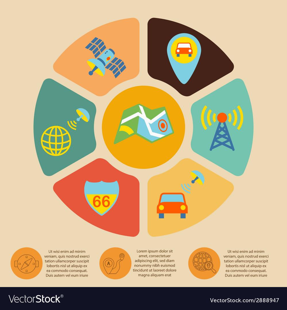 Mobile navigation infographics vector   Price: 1 Credit (USD $1)