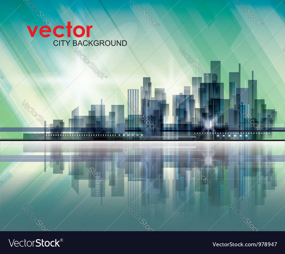 Modern cityscape concept background vector   Price: 1 Credit (USD $1)