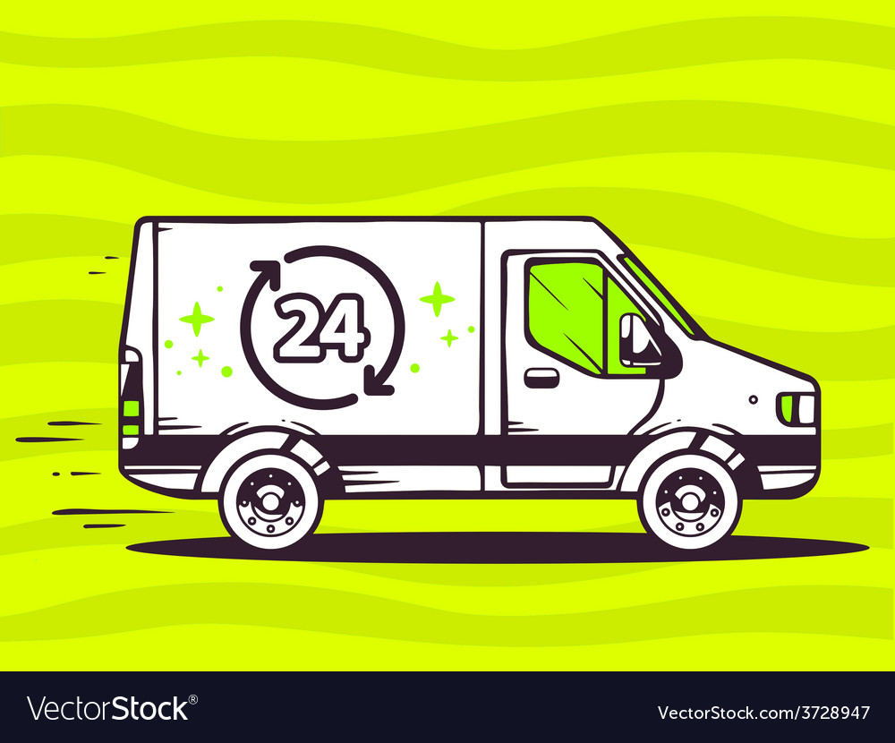 Van free and fast delivering 24 hours to vector | Price: 1 Credit (USD $1)