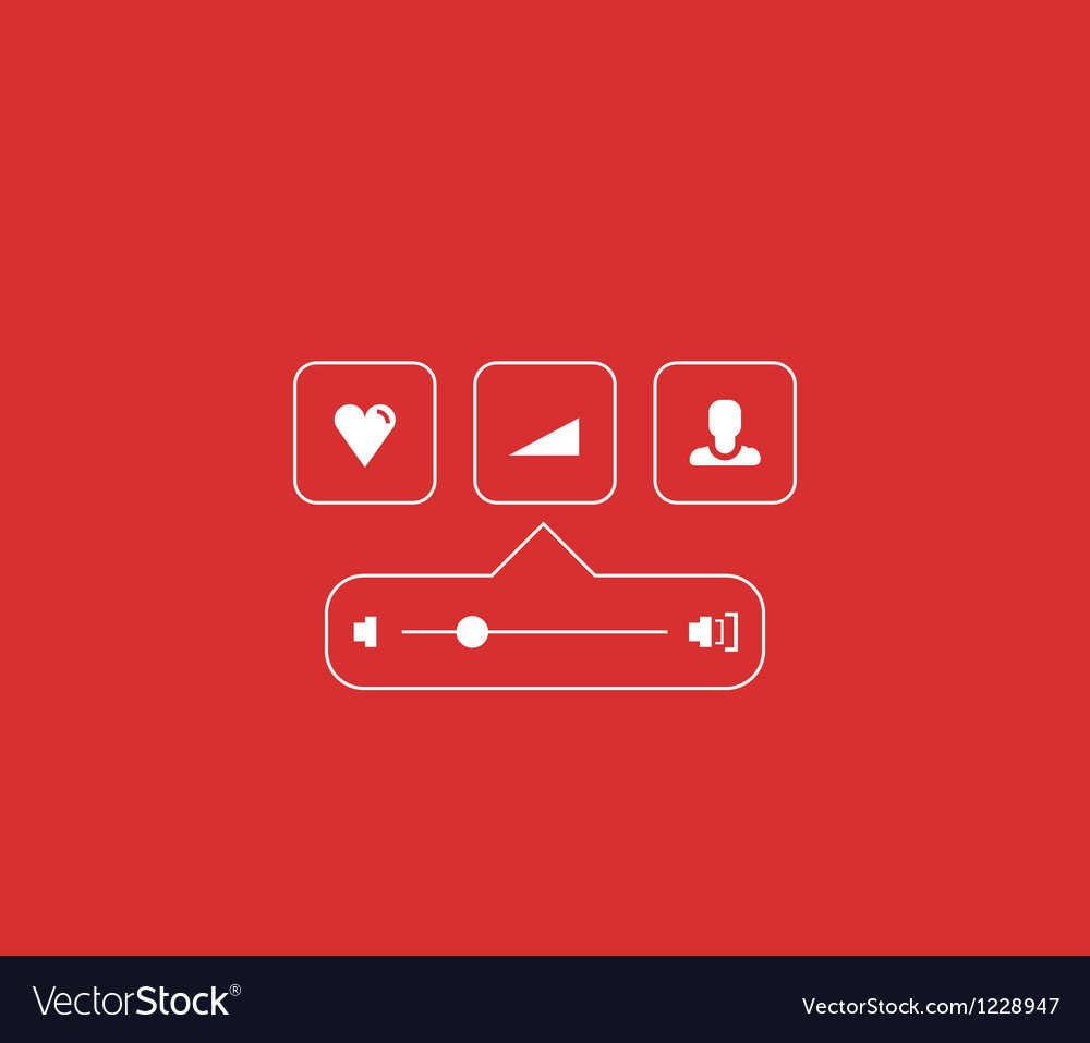Volume progress bar concept made of lines vector | Price: 1 Credit (USD $1)