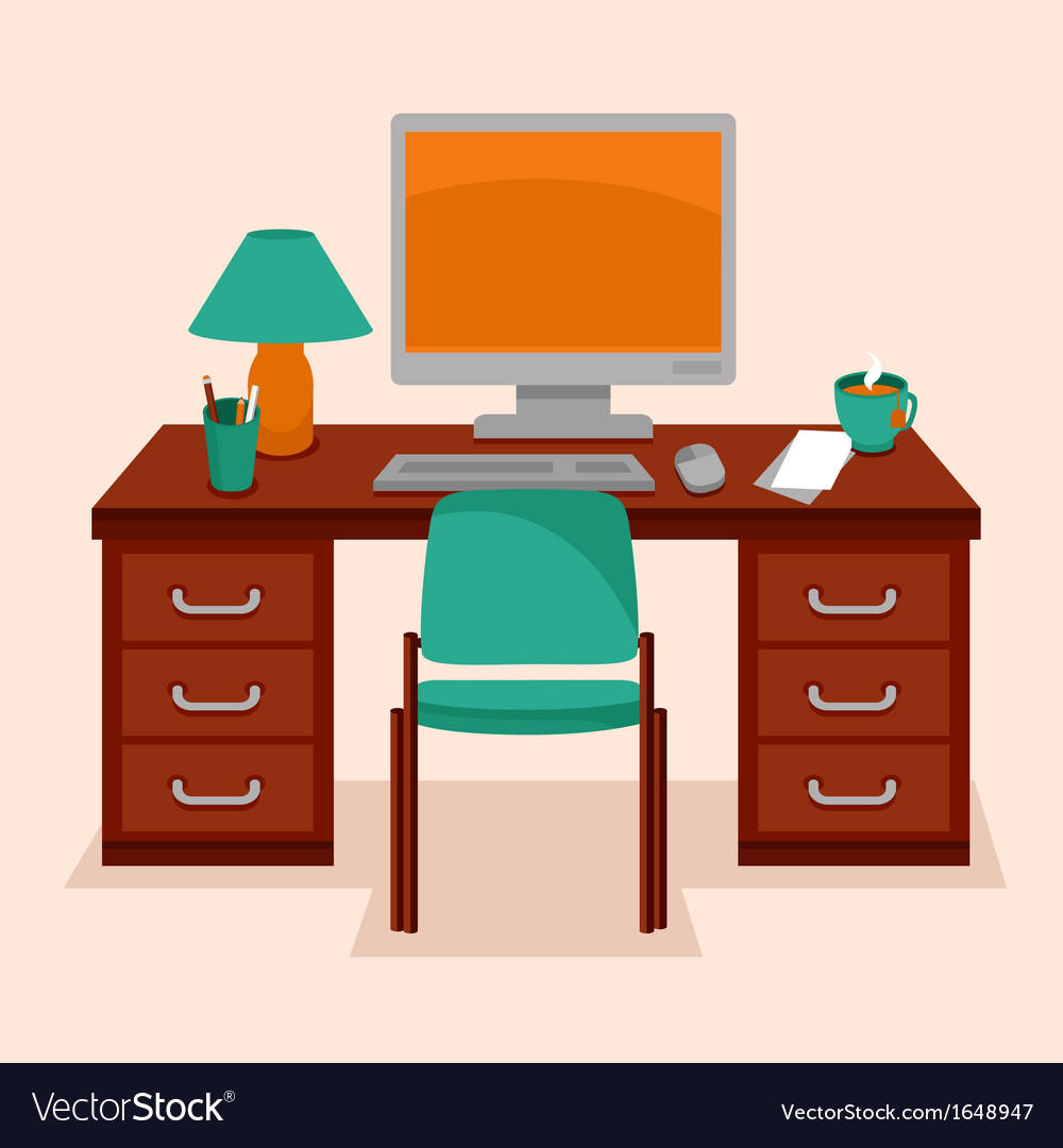 Work station vector | Price: 1 Credit (USD $1)