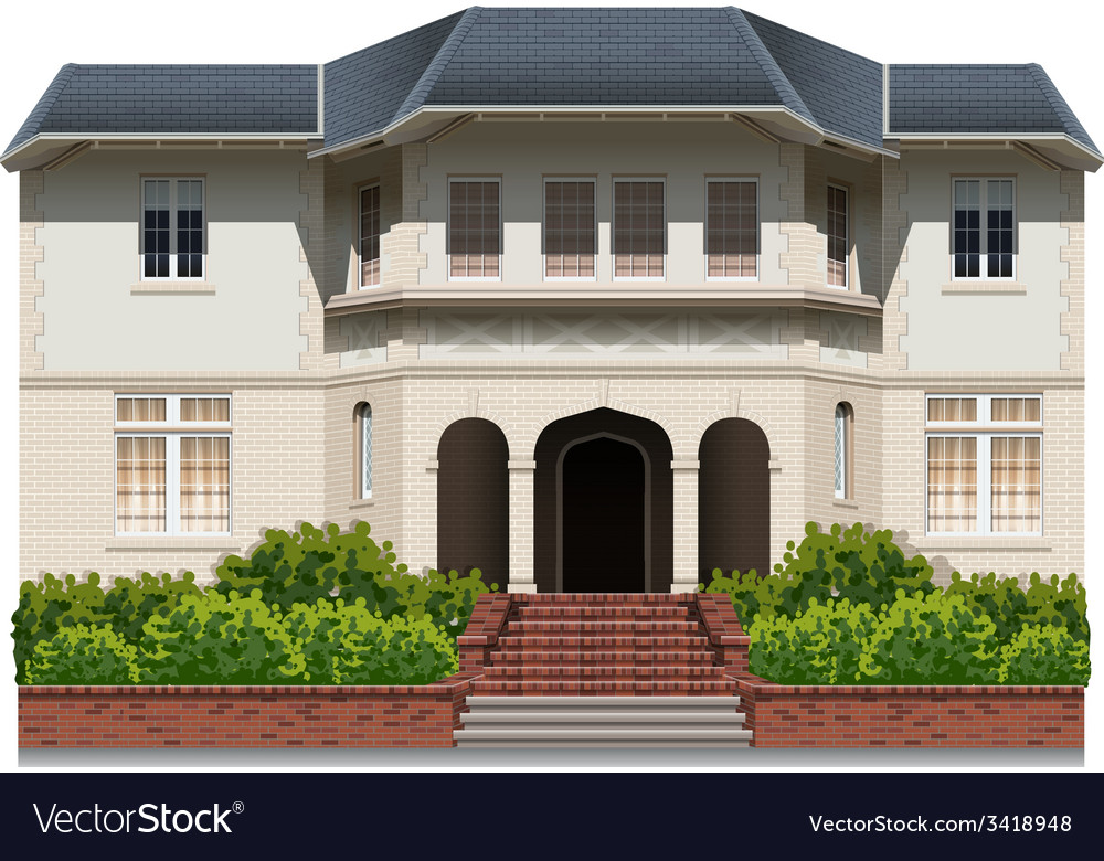 An old building vector | Price: 3 Credit (USD $3)