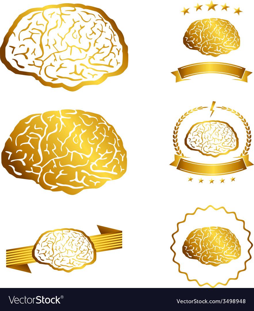 Brain idea concept collection silhouette vector   Price: 1 Credit (USD $1)