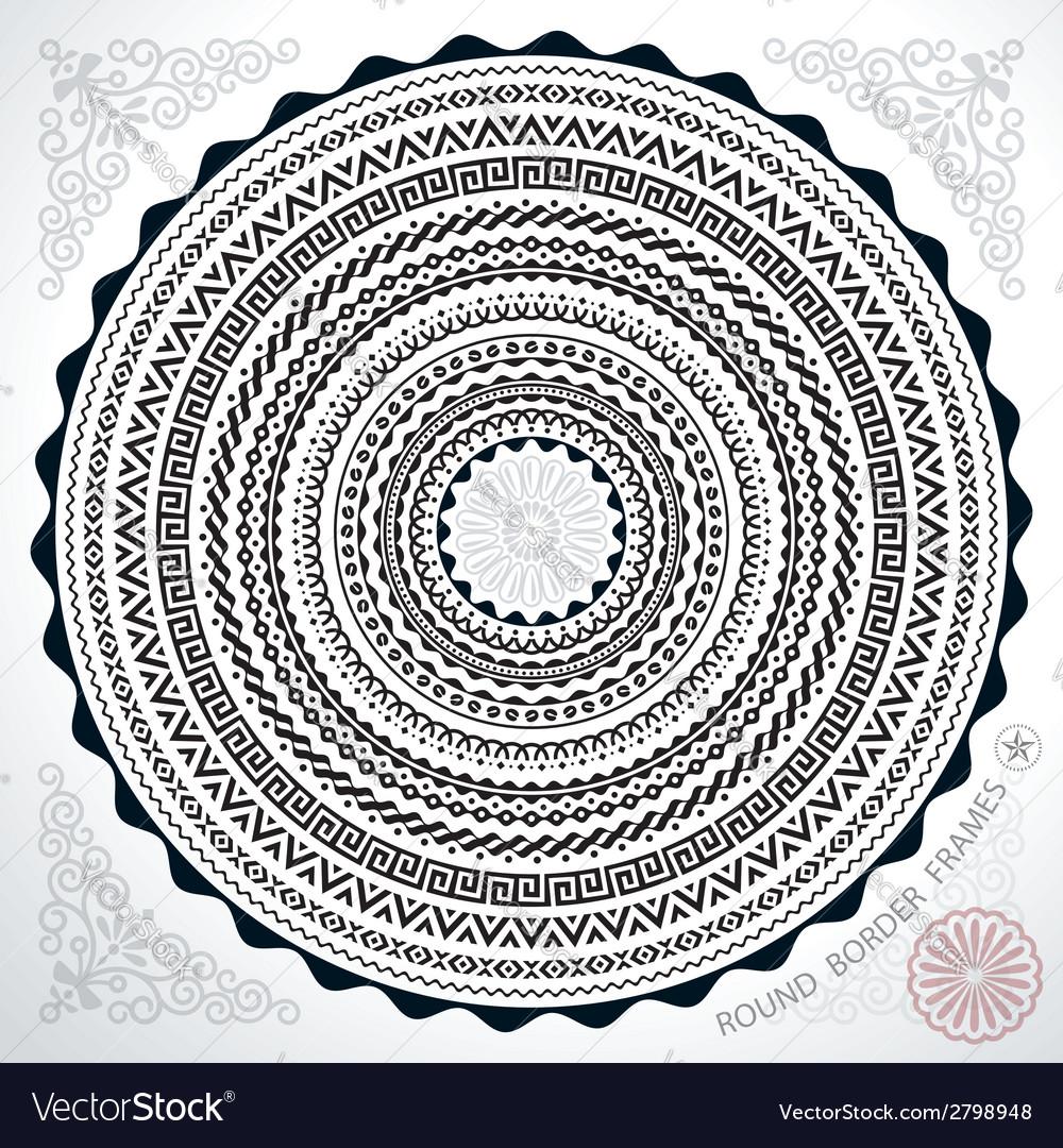 Circle frames vector | Price: 1 Credit (USD $1)