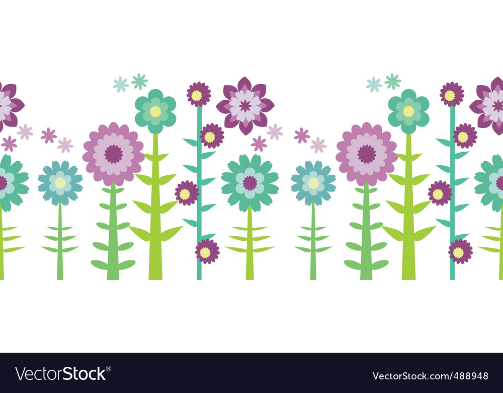 Flower pattern border vector | Price: 1 Credit (USD $1)