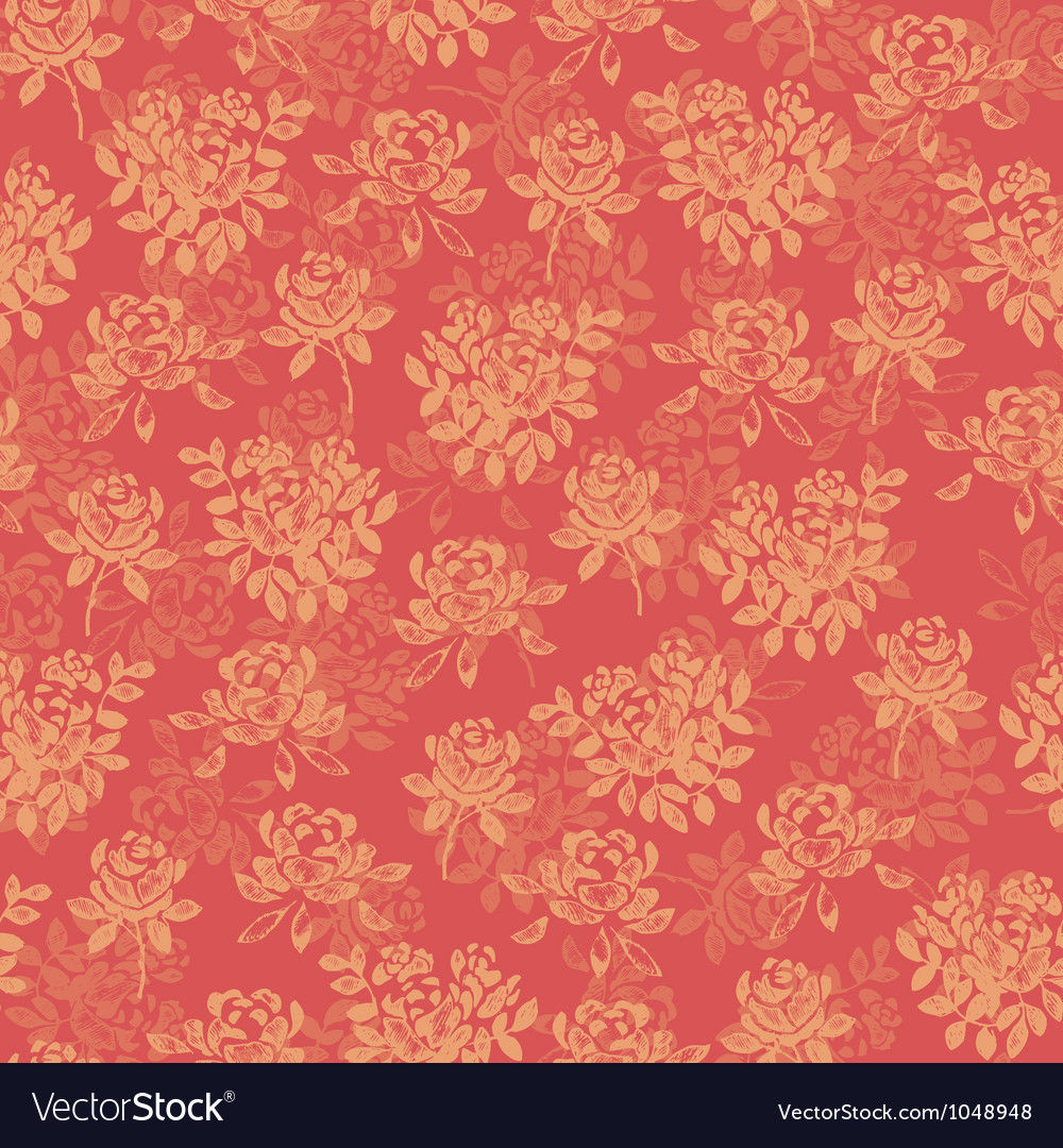 Flower pattern red vector | Price: 1 Credit (USD $1)