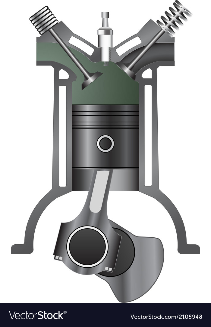 Four stroke engine-exhaust vector | Price: 1 Credit (USD $1)