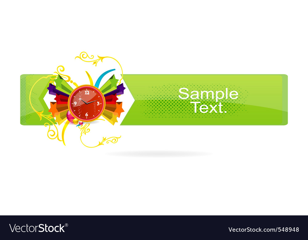 Green grunge banner on the white vector | Price: 1 Credit (USD $1)