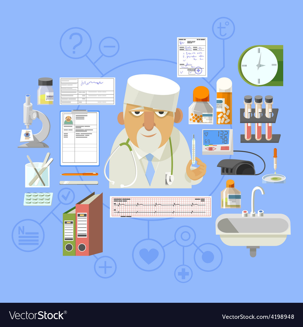Medical concept banner poster composition vector | Price: 1 Credit (USD $1)