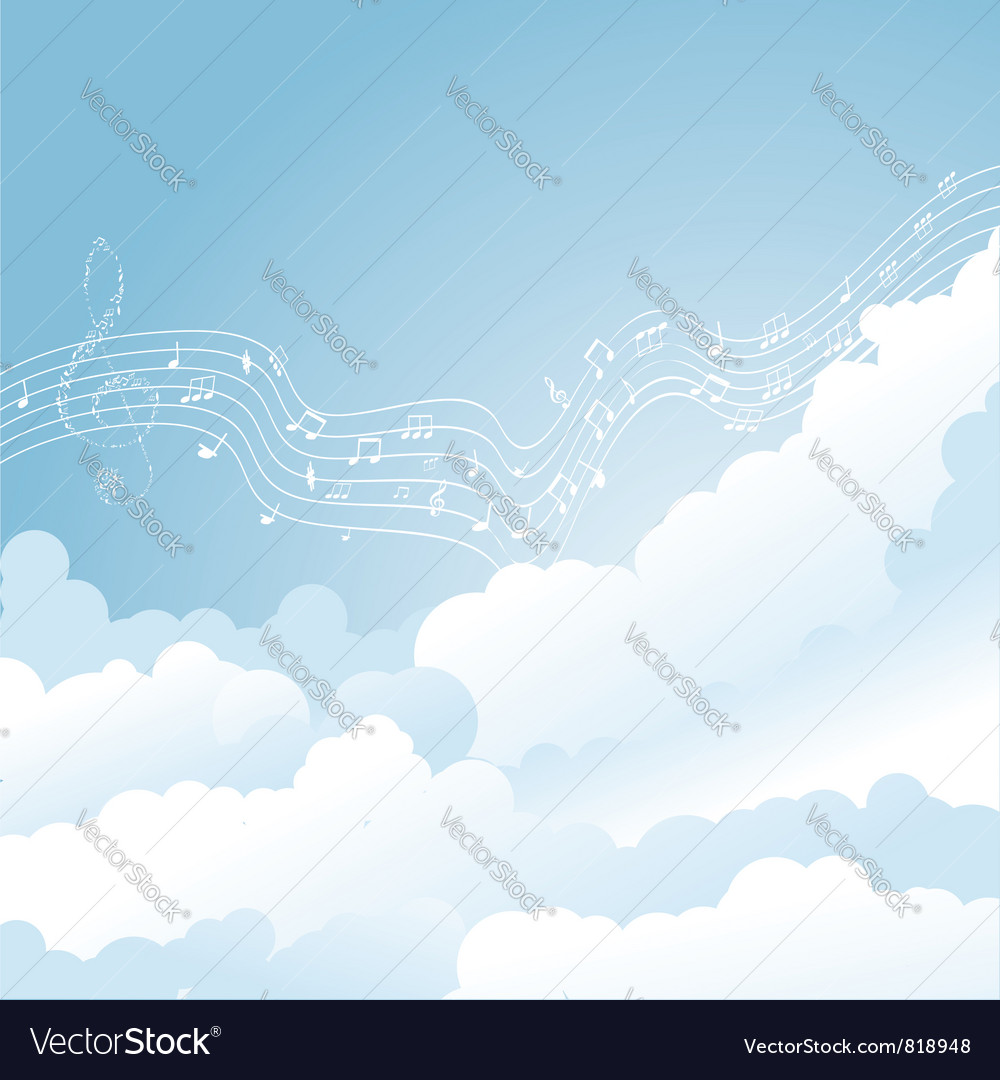 Music clouds vector | Price: 1 Credit (USD $1)