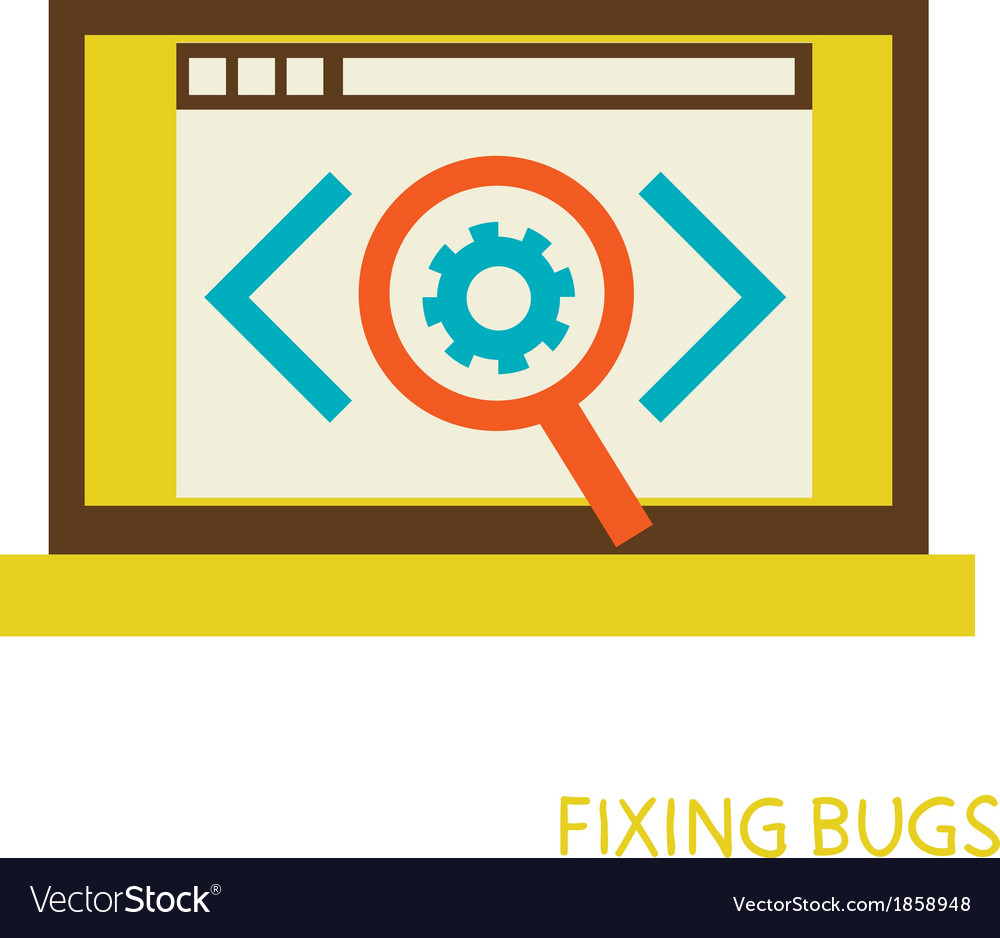 Process of fixing bugs vector | Price: 1 Credit (USD $1)