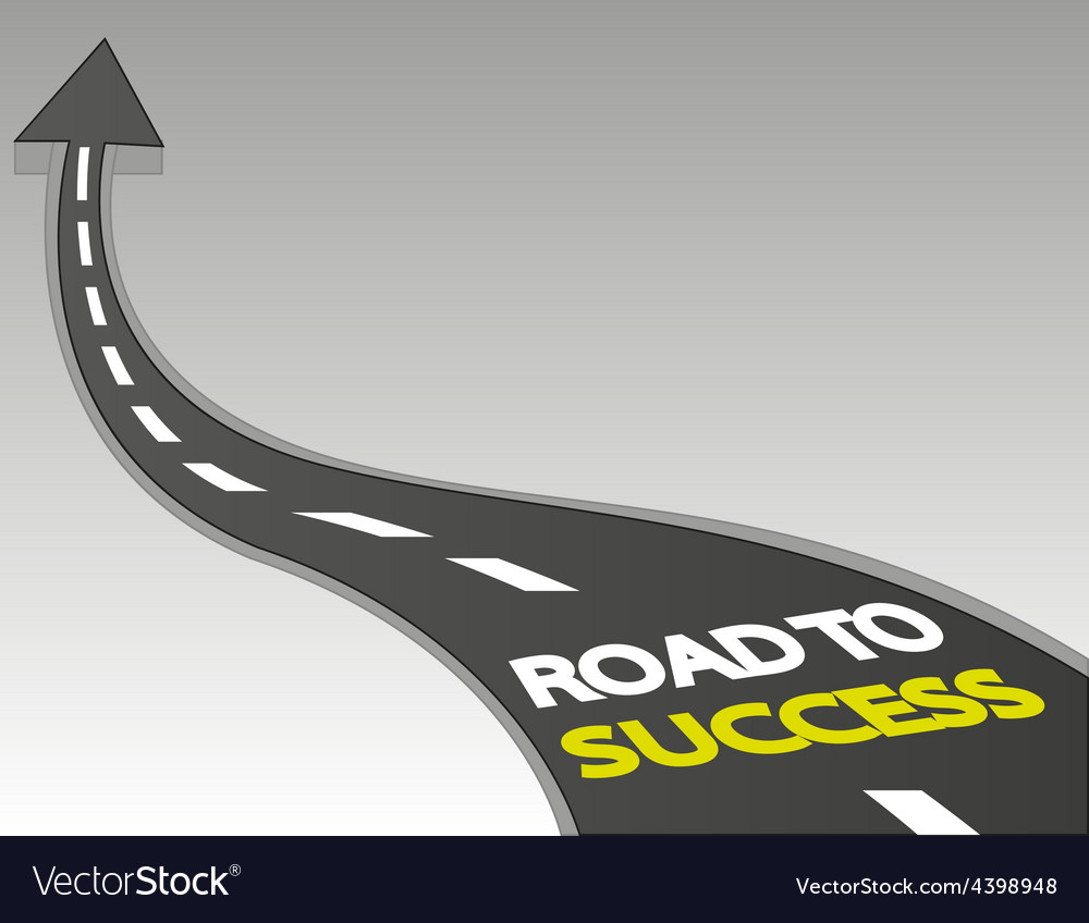 Road to success vector | Price: 3 Credit (USD $3)