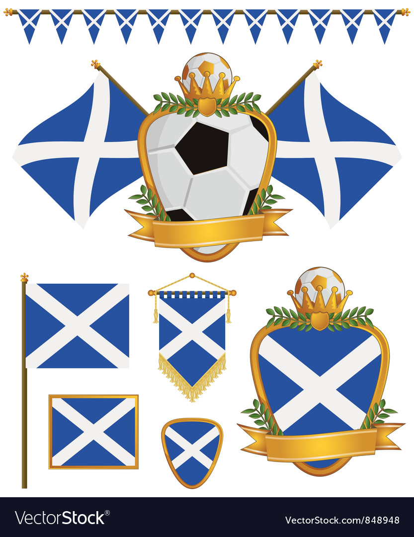 Scotland flags vector | Price: 1 Credit (USD $1)