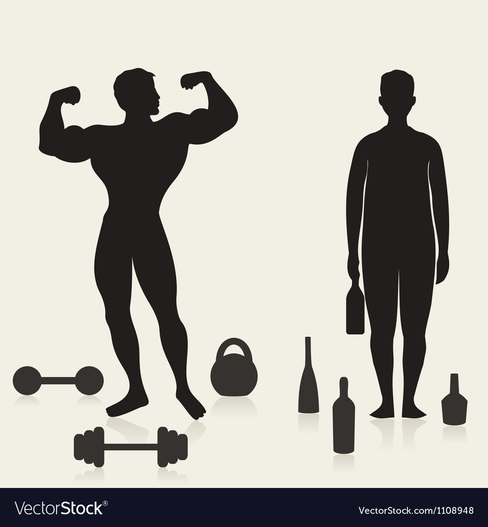 Sportsman and alcoholic vector | Price: 1 Credit (USD $1)