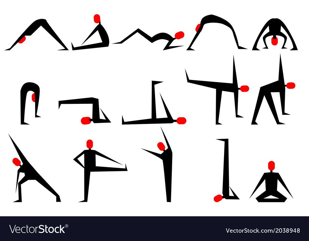Yoga poses vector   Price: 1 Credit (USD $1)