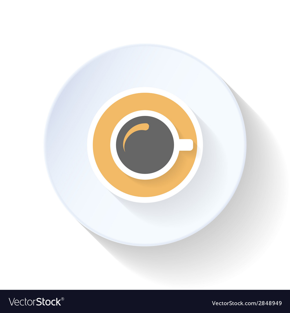 A cup of coffee on top flat icon vector | Price: 1 Credit (USD $1)