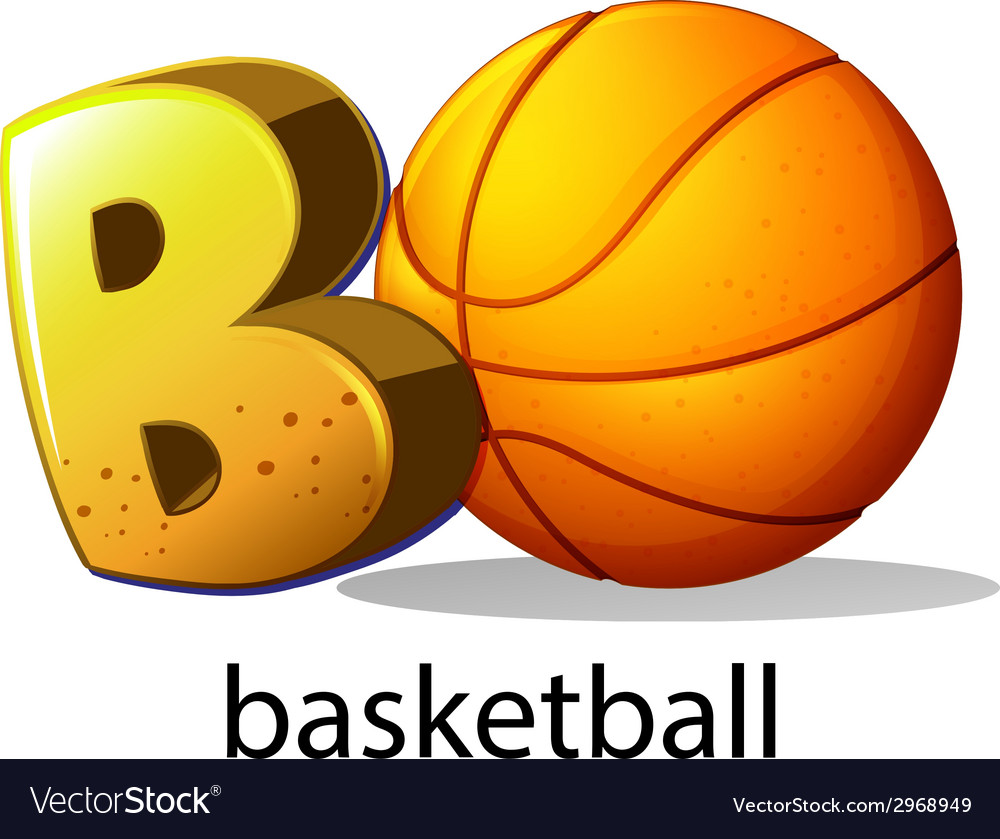 A letter b for basketball vector | Price: 1 Credit (USD $1)