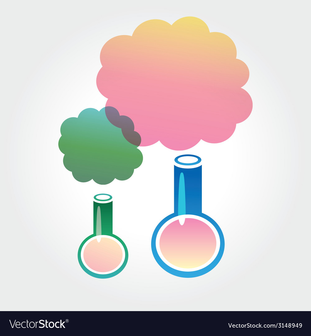 Abstract chemistry icons isolated on white vector | Price: 1 Credit (USD $1)