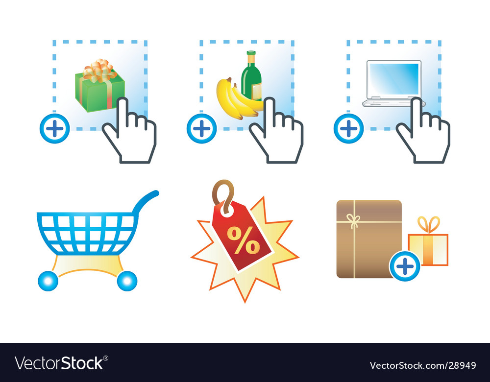 E-commerce icons  complex series vector | Price: 1 Credit (USD $1)