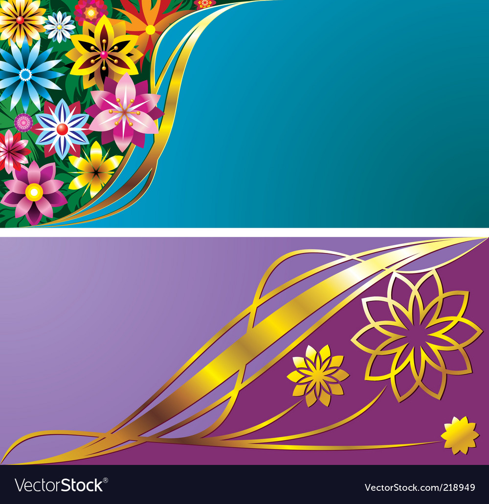 Flower backgrounds vector | Price: 1 Credit (USD $1)
