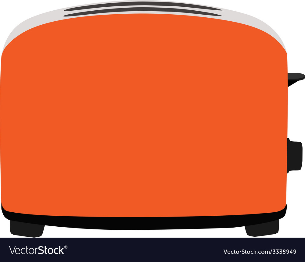 Orange toaster vector | Price: 1 Credit (USD $1)