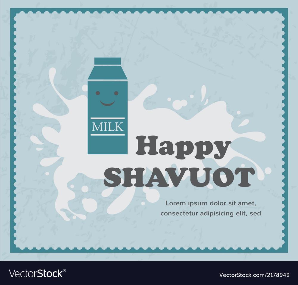 Retro card with milk carton on white splash vector | Price: 1 Credit (USD $1)