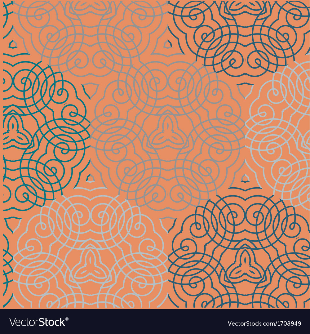 Seamless wallpaper pattern red vector | Price: 1 Credit (USD $1)