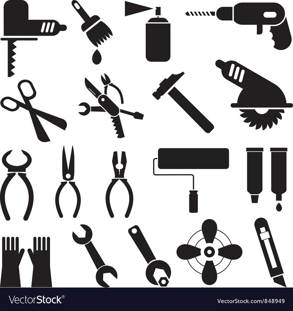 Tool icons vector | Price: 3 Credit (USD $3)