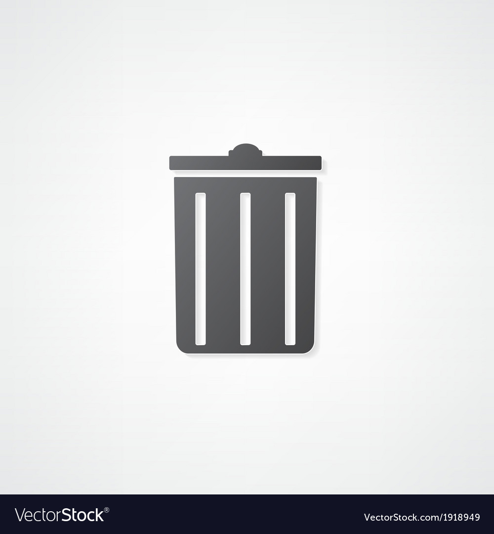 Trash can icon vector | Price: 1 Credit (USD $1)