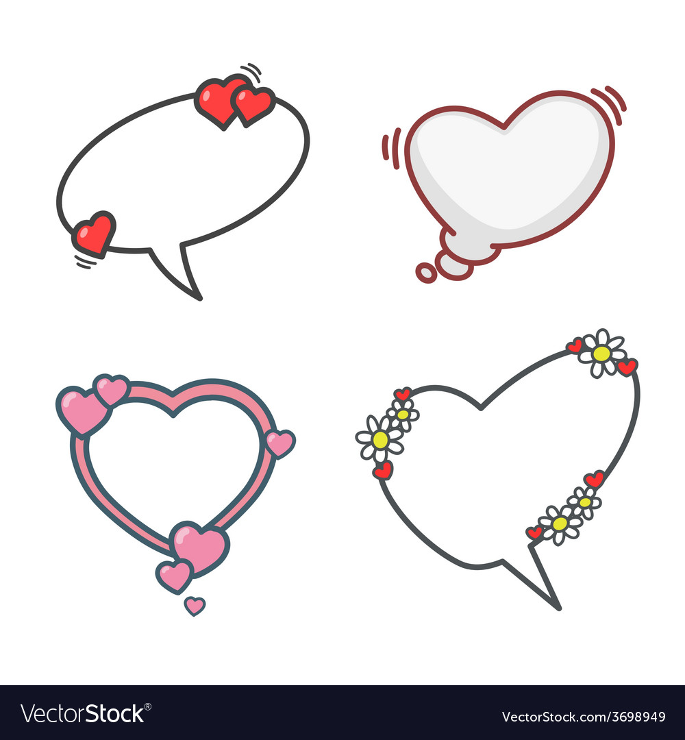 Valentines day elements set 01 vector | Price: 1 Credit (USD $1)