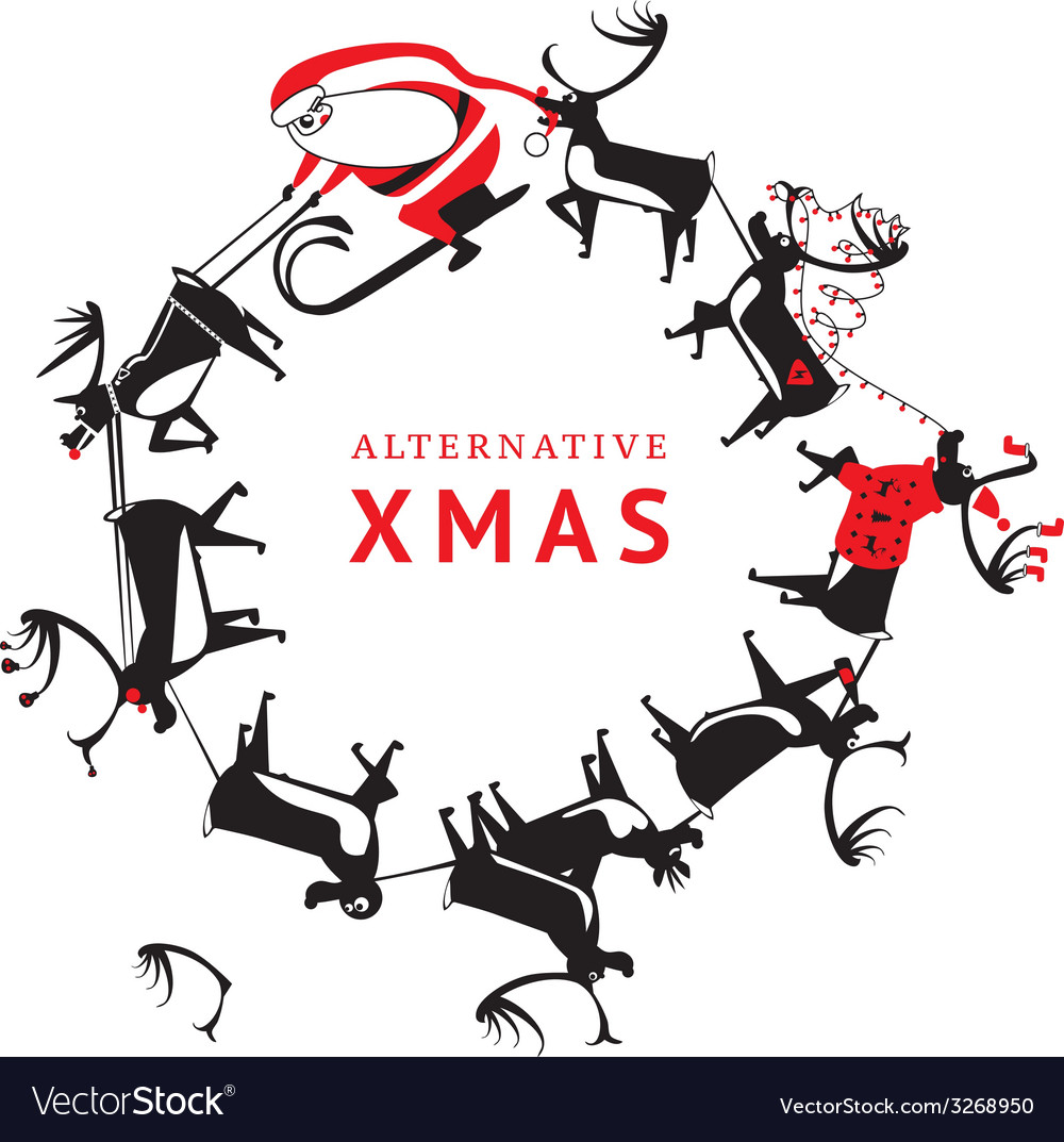 Alternative xmas vector | Price: 1 Credit (USD $1)