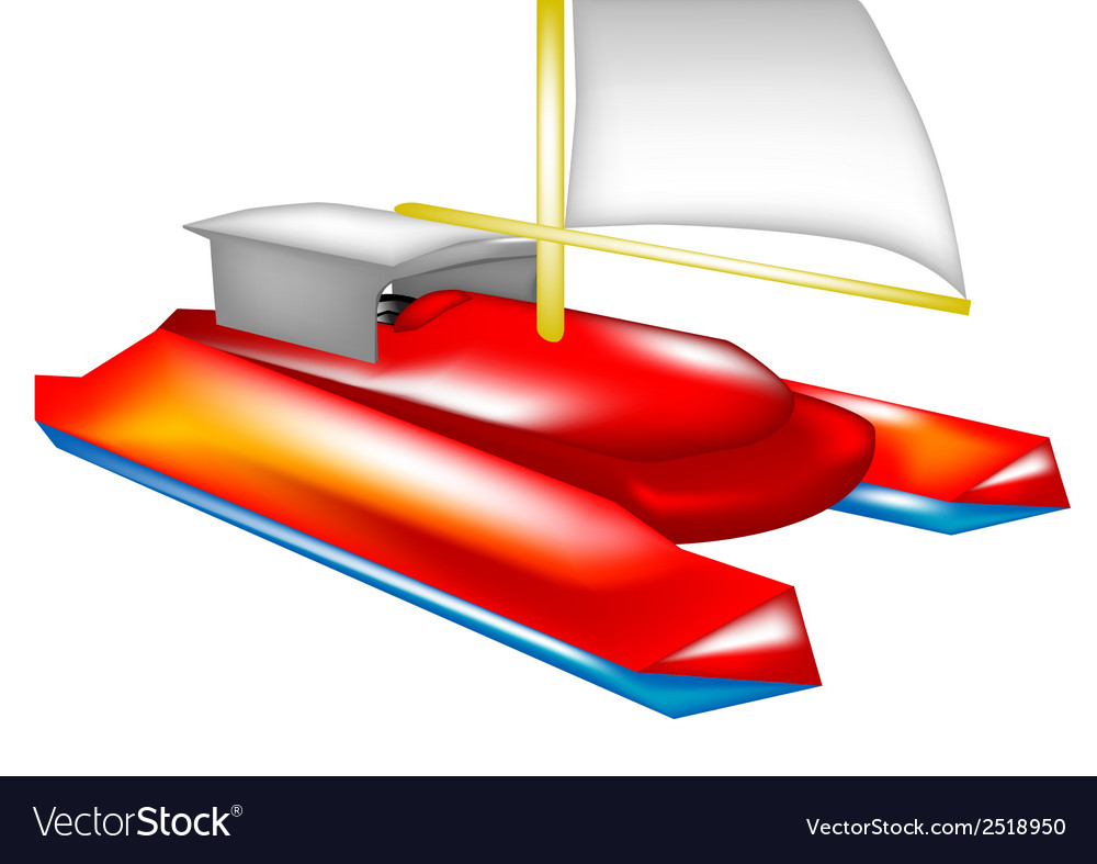 Catamaran vector | Price: 3 Credit (USD $3)