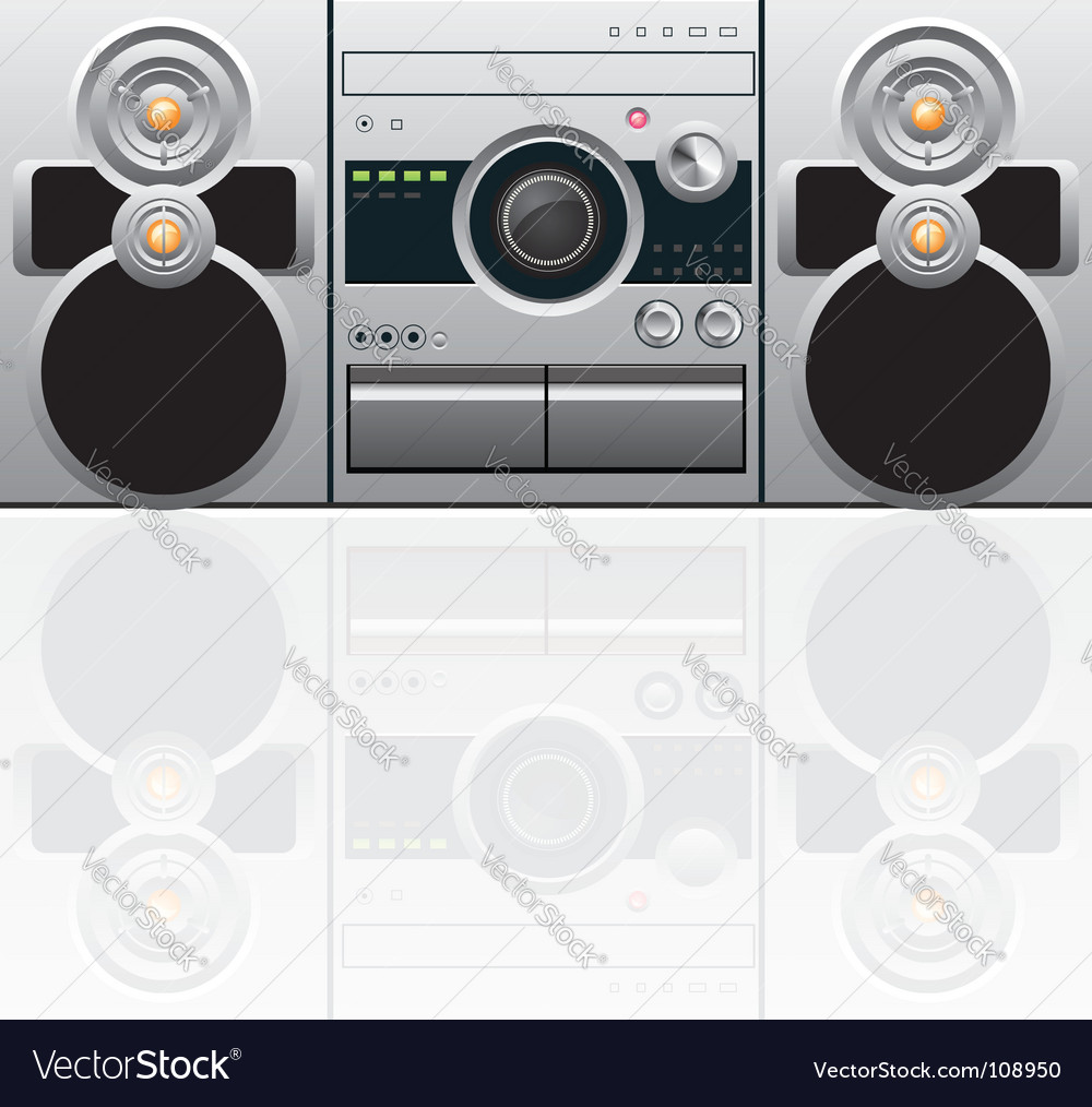 Cd and cassette player vector | Price: 1 Credit (USD $1)