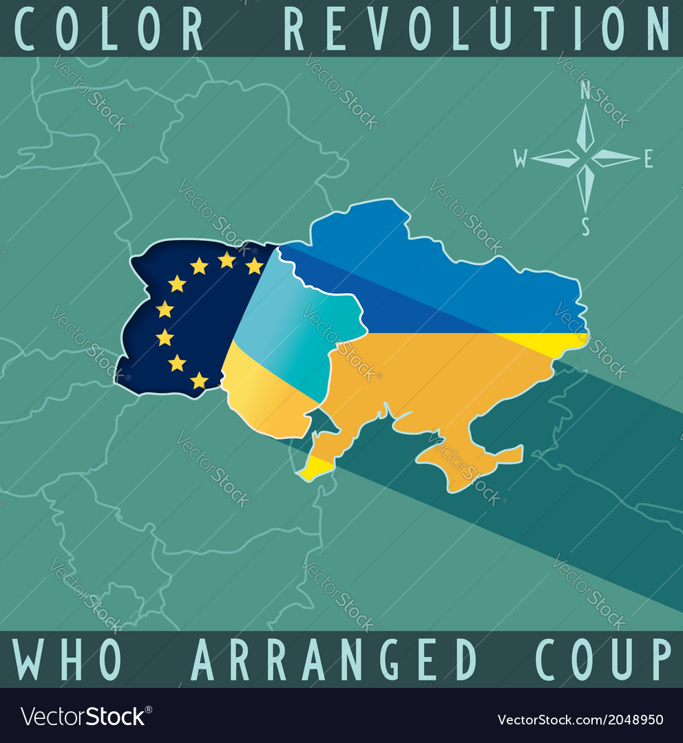 Color revolution in ukraine vector | Price: 1 Credit (USD $1)