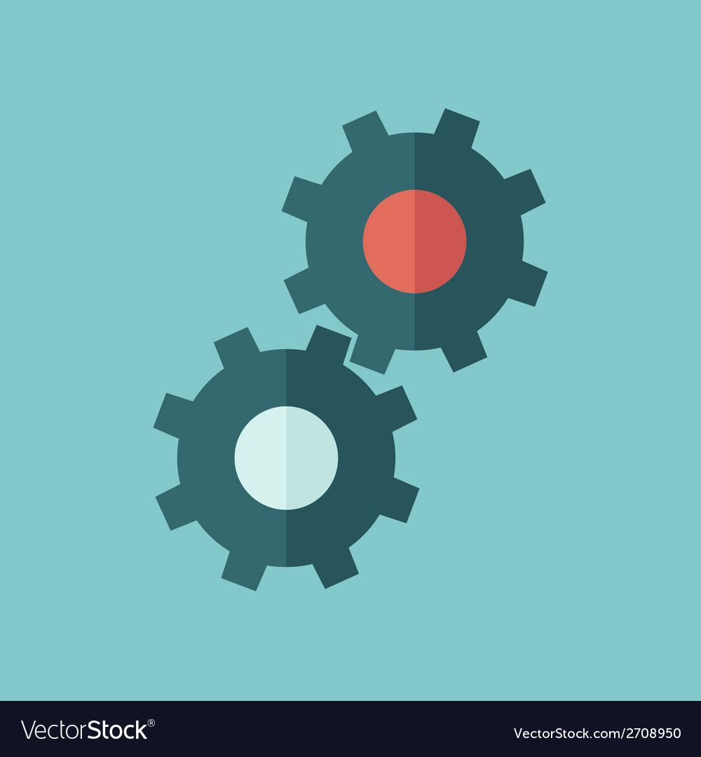 Gear flat icon vector | Price: 1 Credit (USD $1)