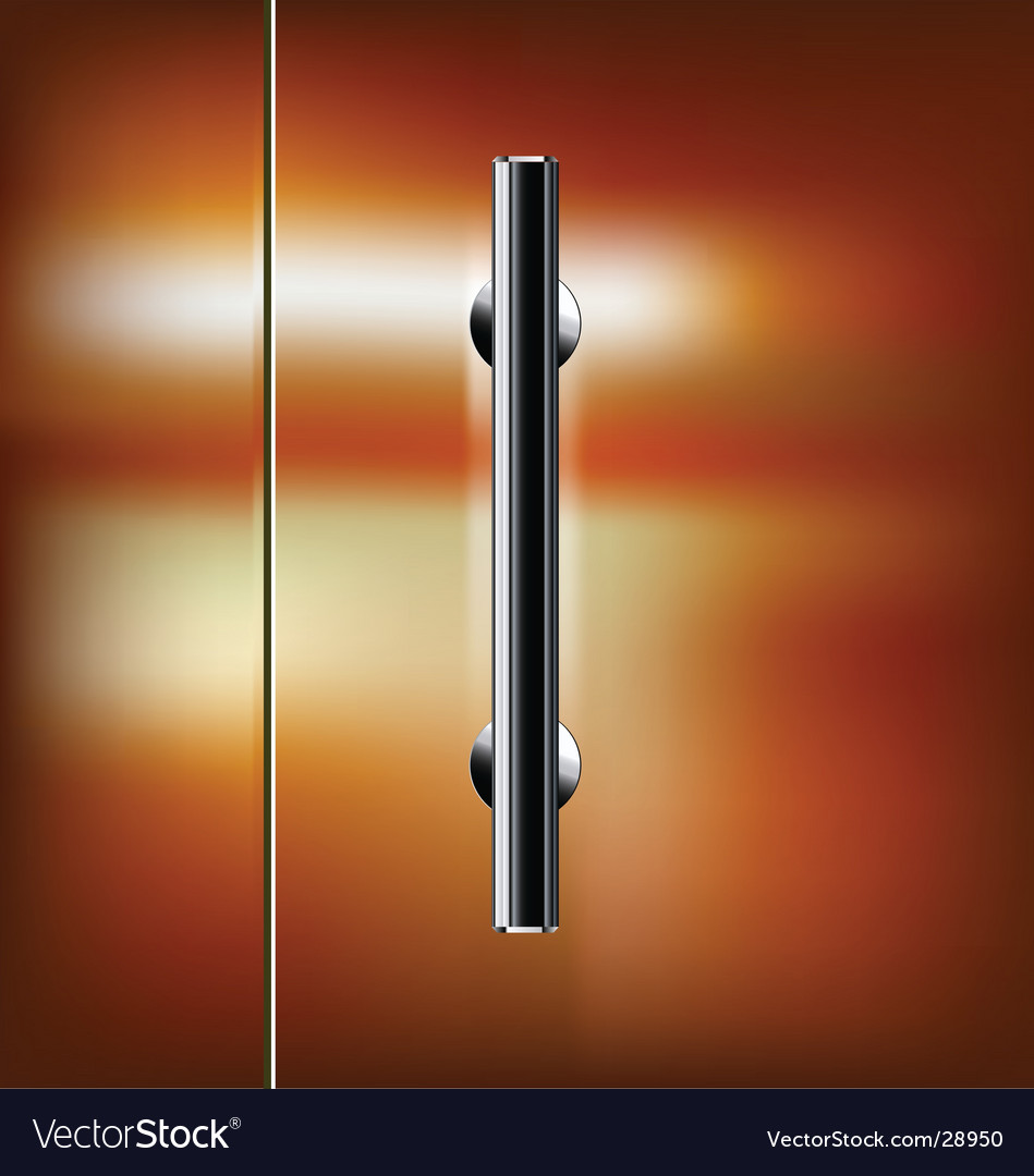 Glass door vector | Price: 1 Credit (USD $1)
