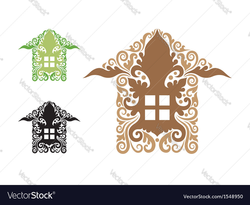 House decorations vector | Price: 1 Credit (USD $1)
