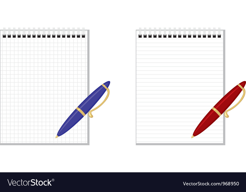 Pen notebook vector | Price: 1 Credit (USD $1)