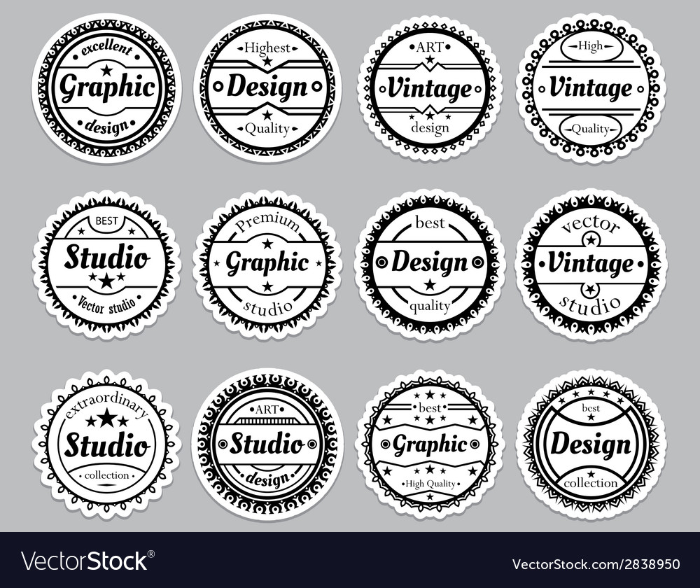 Set old fashioned icons premium design graphic vector | Price: 1 Credit (USD $1)