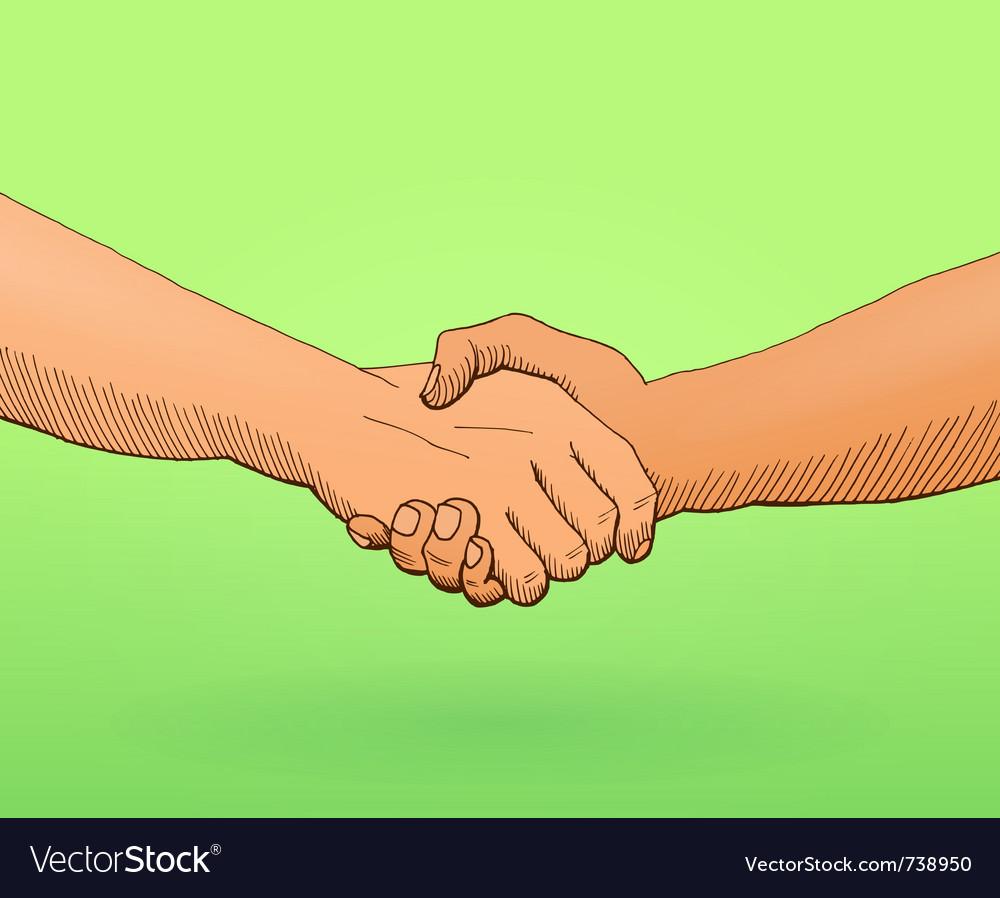 Shaking hands vector   Price: 1 Credit (USD $1)
