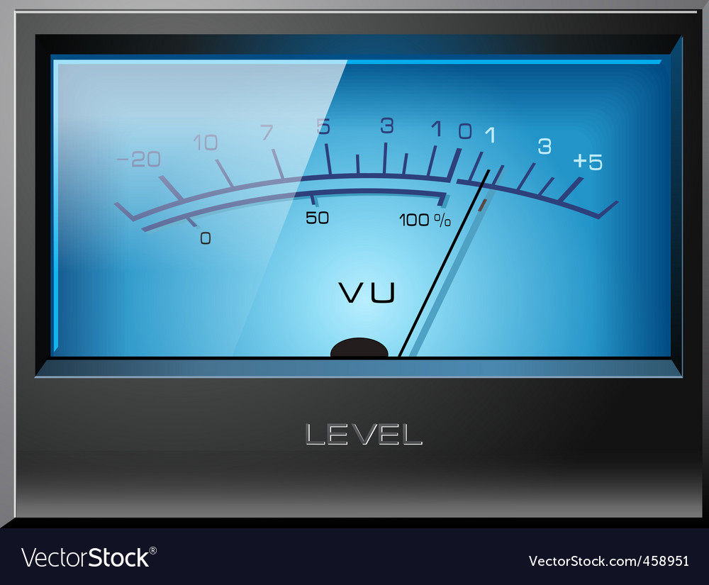 Analog vu meter blue vector | Price: 1 Credit (USD $1)