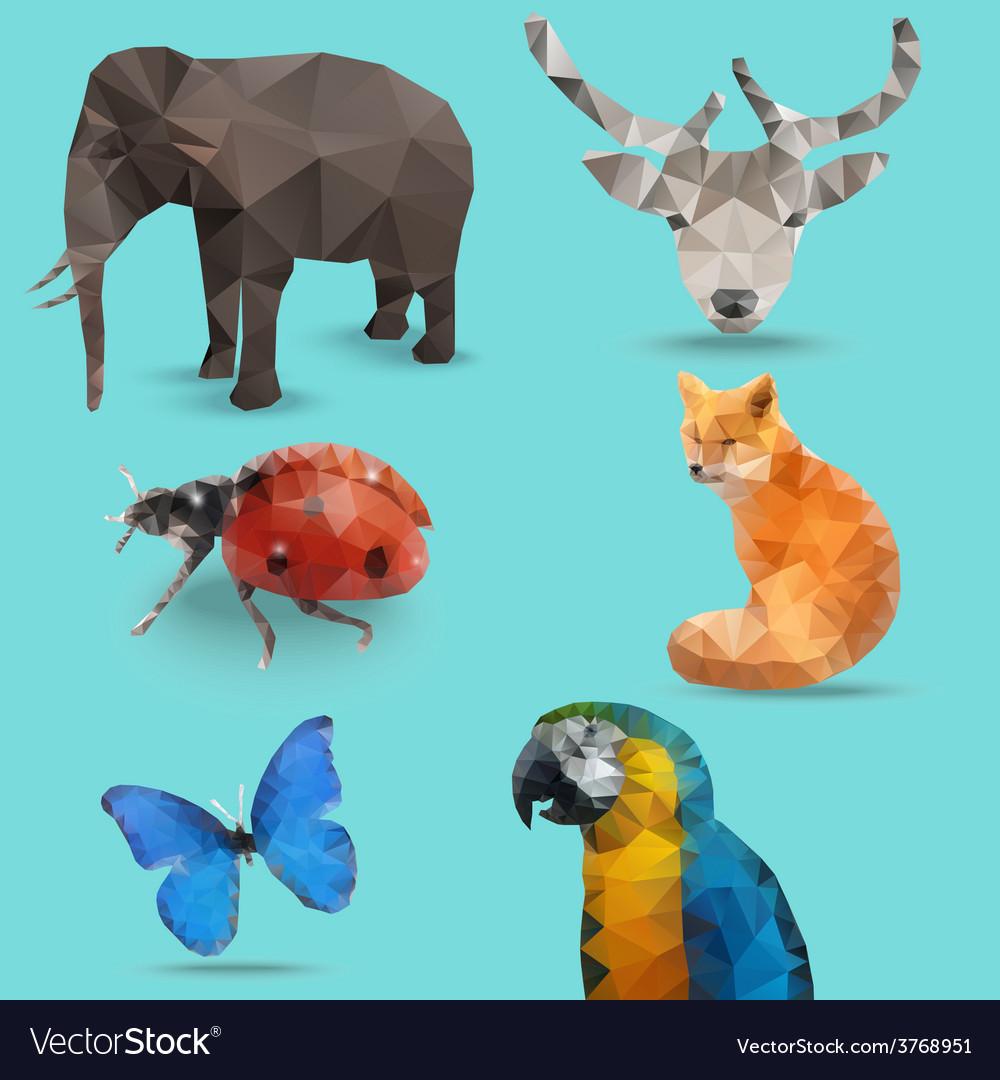 Animal bug polygon vector | Price: 1 Credit (USD $1)