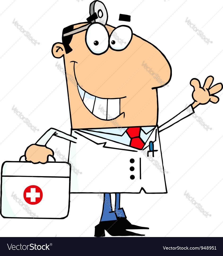 Cartoon doctor vector | Price: 1 Credit (USD $1)