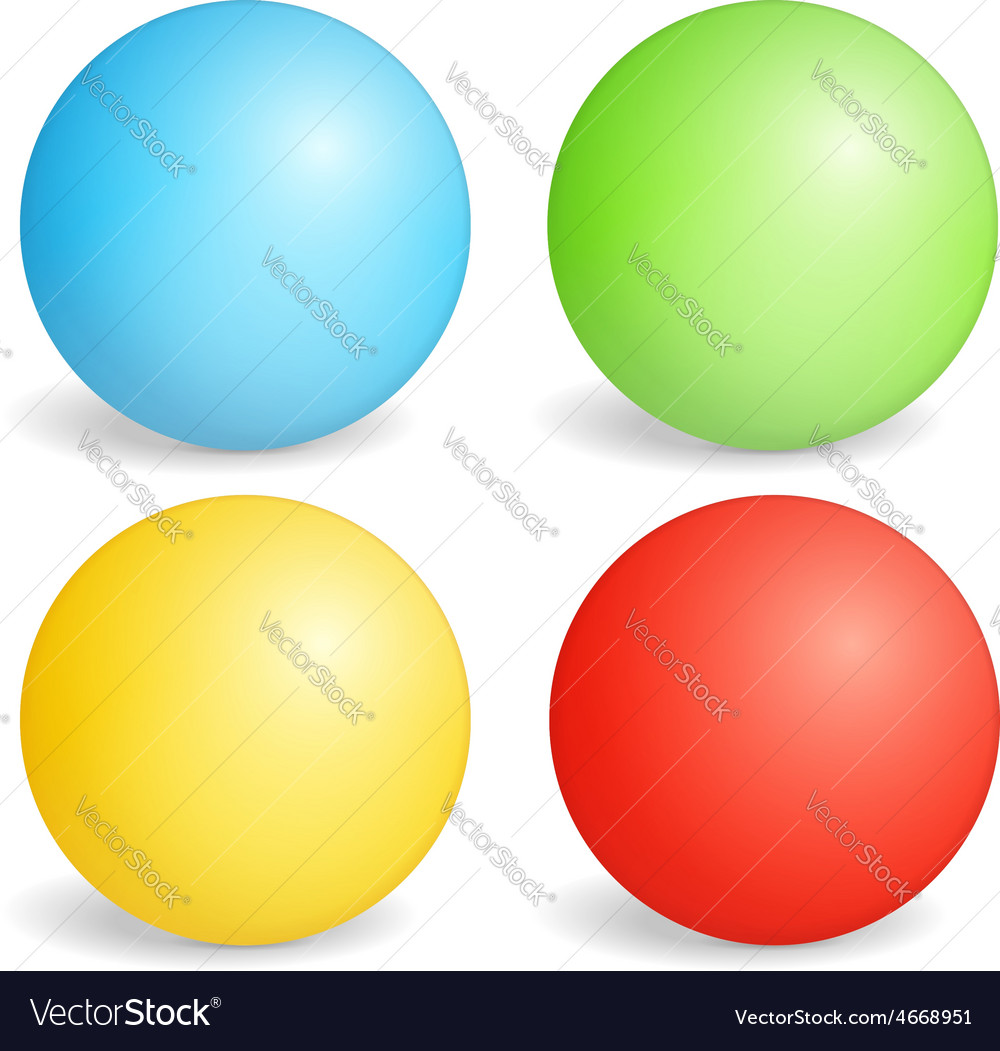 Colored spheres vector | Price: 1 Credit (USD $1)