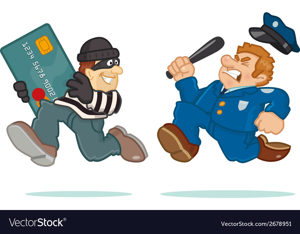 Credit card thief vector | Price: 1 Credit (USD $1)