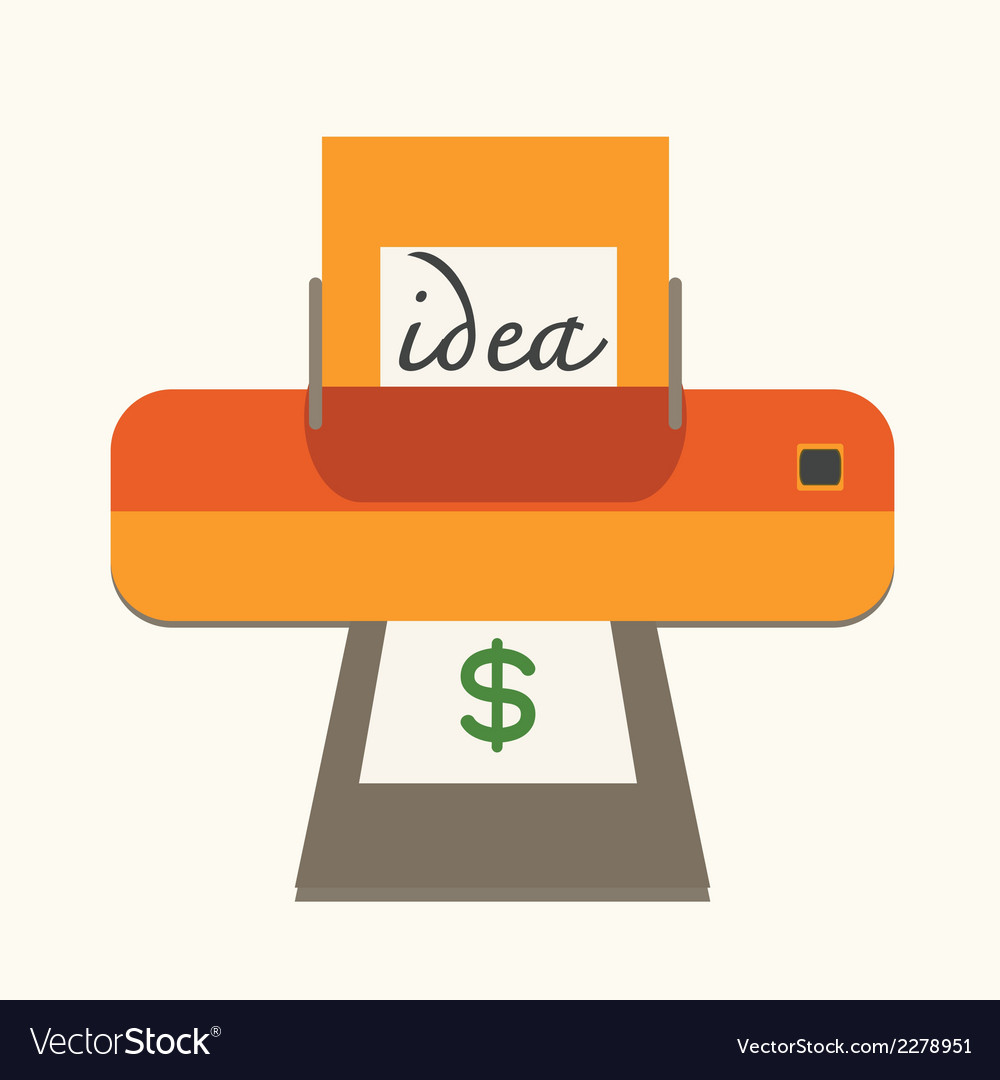 Idea with make money concept vector | Price: 1 Credit (USD $1)