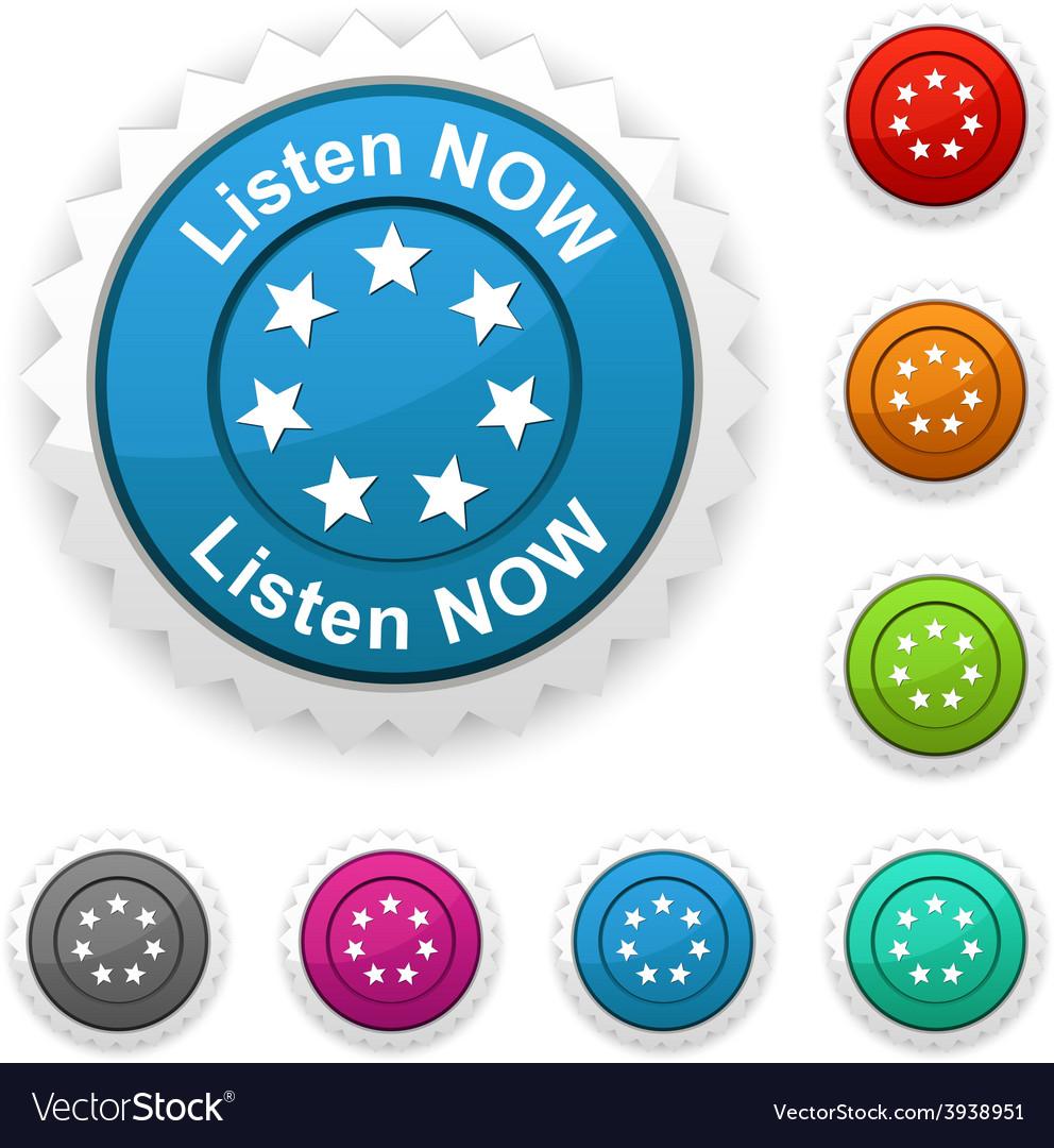 Listen now award vector | Price: 1 Credit (USD $1)