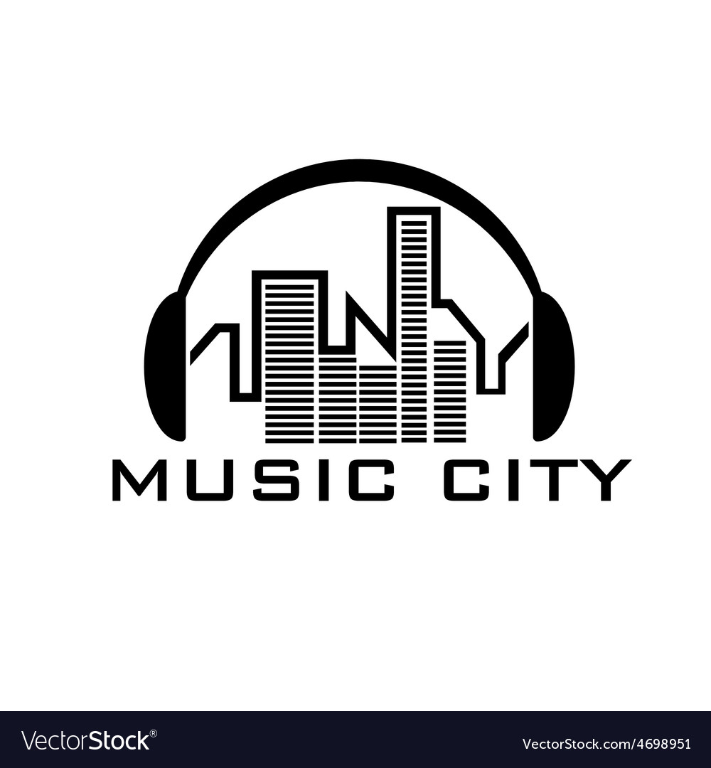 Music city concept design template vector | Price: 1 Credit (USD $1)