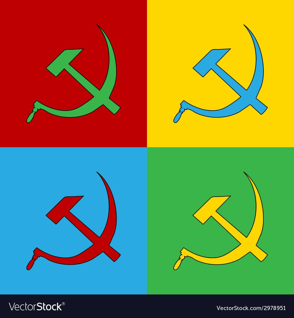 Pop art communist symbols vector | Price: 1 Credit (USD $1)